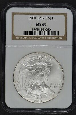 2001 American Silver Eagle $1 NGC MS 69