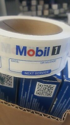 Mobil 1 Oil change reminder windshield cling stickers (500)