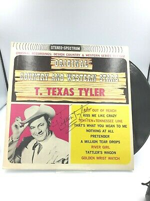 T. Texas Tyler- Signed Original Country and Texas Stars Album 1981 COA