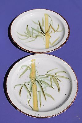 "Lot 2 Rangoon Midwinter Dinner Plate Stonehenge Wedgwood Bamboo England 10 1/2""!"