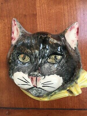 Vintage Babbacombe pottery Cat String And Scissors Holder