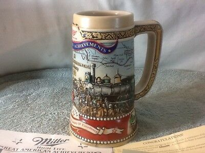 Nice GREAT AMERICAN ACHIEVEMENTS #14126 The Miller High Life Collectors Stein