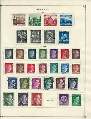 GERMANY 1941-1954 Lot of Stamps Collection on Scott Album Pages