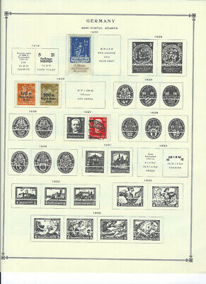 GERMANY 1922-1977 Lot of Stamps Collection on Scott Album Pages