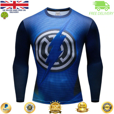 Compression top MMA BJJ gym superhero avengers marvel muscle Flash Zoom
