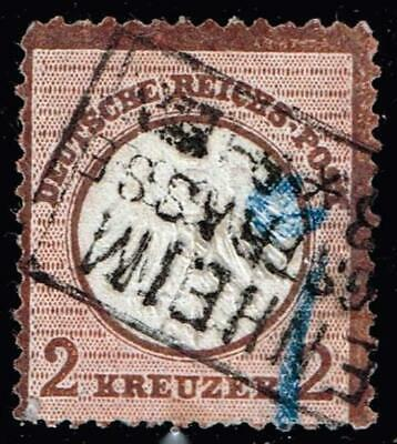 GERMANY STAMP 1872 Imperial Eagle with Small Breastshield 2kr USED STAMP