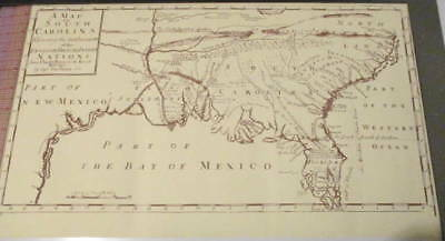Map of So. Carolina Shewing Settlements of the English, French & Indian Na (#374