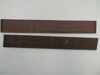 (2) Lot Of 2, Guitar Luthier Rosewood Fingerboard Blank 21 X 2 15/16 X 3/8
