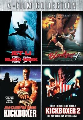 4 FILM COLLECTION New DVD Black Mask + Bloodsport 4 + Kickboxer + Kickboxer 2
