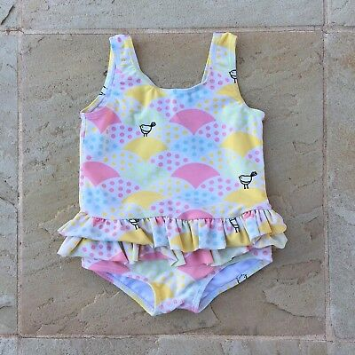Sooki Baby Girls Size 1 Lined Bathers In Excellent Condition.