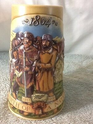 Beautiful MILLER GENUINE DRAFT 1804 Lewis & Clark Expedition Collectors Stein