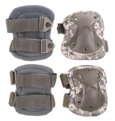 Pair of Military Style Knee & Elbow Pads Desert Camo
