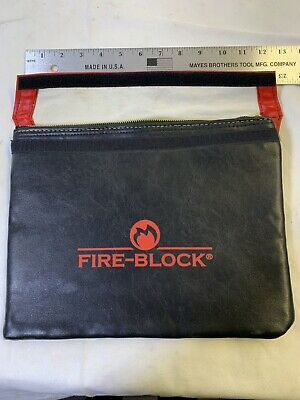 Fire Proof Money Bag Document Holder Waterproof Water Resistant Protective Case