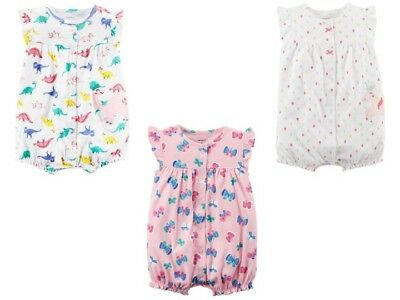 a162d1eb1 NEW Carter's Baby Girls Summer Romper One-piece Outfit 3 9 12 24 months NWT