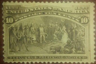 Travelstamps:1893 US Stamps Scott #237 Presenting Natives 10cents mint unused ng