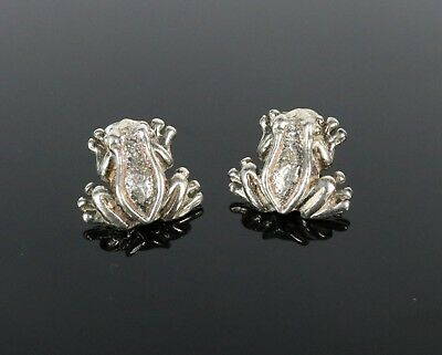 11//16 inch .925 Sterling Silver Frog Cuff Earring one piece