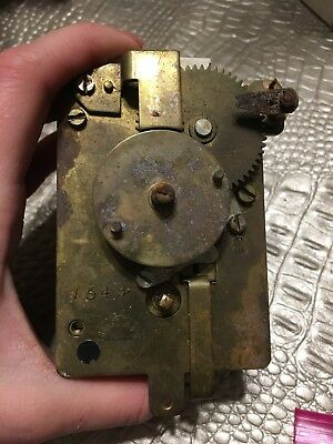 Vintage Antique German wind clock movement  011510