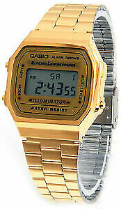 Casio  Gold-Tone Stainless Steel Mens Watch A168WG-9WDF Gold Watch