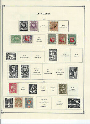 LITHUANIA 1919-1936 Stamps Collection on Scott Album Pages