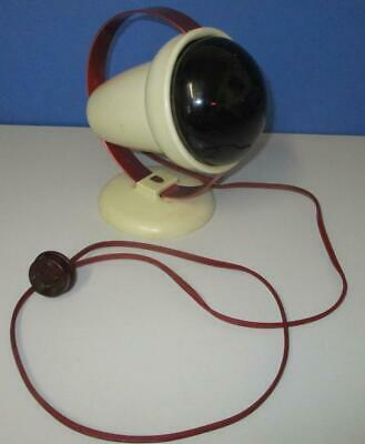 RETRO Red PHILIPS Heat Lamp INFRARED RAY LAMP Infraphil Type 7525 240v VGC Works