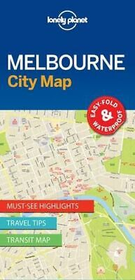 NEW Melbourne City Map By Lonely Planet Folded Sheet Map Free Shipping