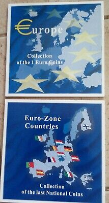 Collection of 1 Euro coins & Collection of the last national coins. 24 coins