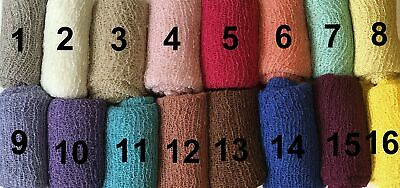 Newborn Baby Cheesecloth Swaddle Cocoon Knit Crochet Wrap Photo Photography P...