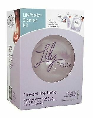 Lilypadz Starter Kit Re-Useable Silicone Nursing Pads, Full Kit