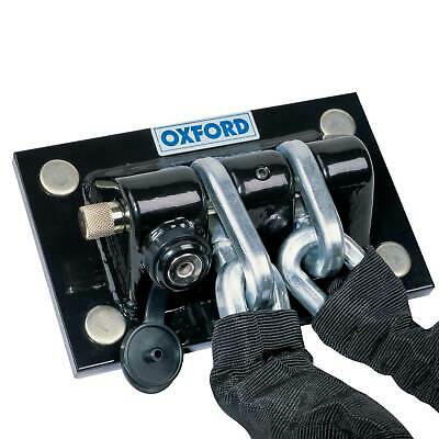 Oxford Motorcycle / Motorbike Wall And Ground Anchor Chain Docking Station