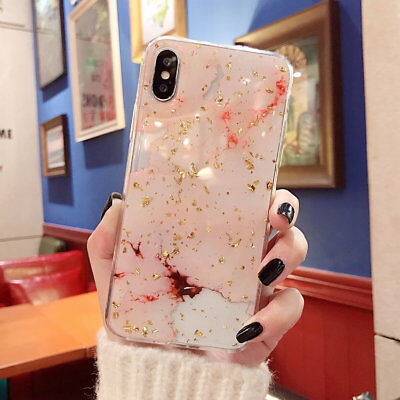Marble Bling iPhone XS Max XR 8 Plus 7 6s Case Tough Slim Soft Cover for Apple 6
