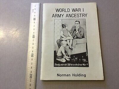World War One Army Ancestry Book