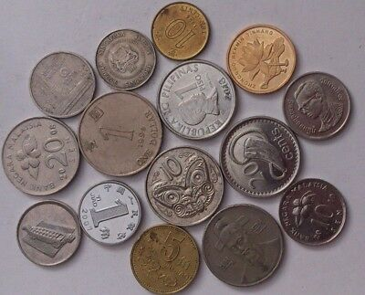 Assorted World Coins - 15 Coins