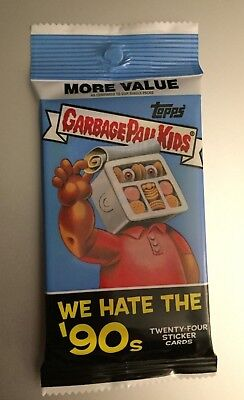 2019 GARBAGE PAIL KIDS WE HATE THE '90s Fool's Gold Parallel #/50 JUMBO HOT PACK