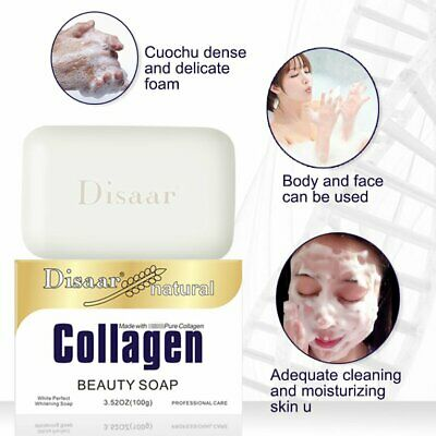 Collagen Silky Facial Soap Bar Best Natural Organic Acne Anti-Aging Bar  H↔