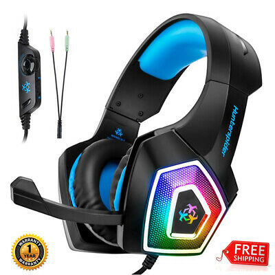 Gaming Headset MIC LED Headphones Bass Surround For PC Mac Laptop PS4 Xbox One