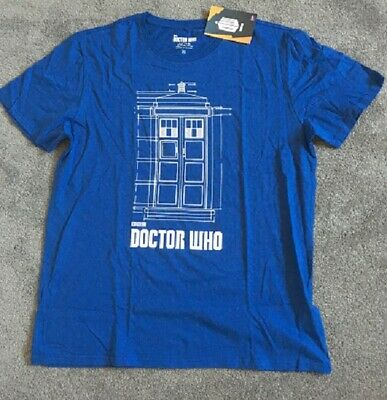 T Shirt, BBC DR WHO, mens, cotton, blue, size 2XL, new with labels