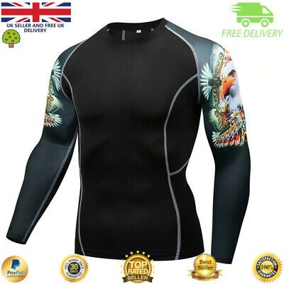 Mens compression top gym crossfit MMA BJJ Cycling muscle Punisher high quality