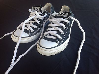 Youth Converse All Stars - US13 - Black Canvas With White Contrast