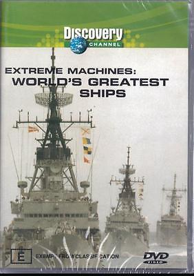 Extreme Machines World's Greatest Ships - New R4 Dvd Free Local Post