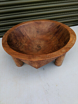 Vintage solid wood carved bowl TC110219Y