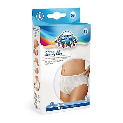 Canpol Babies 9/599 – Pack of 5 Disposable Panties POSTPARTO, Size L