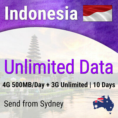 Indonesia (Incl Bali) | 10 days | Unlimited Travel Data Sim Card
