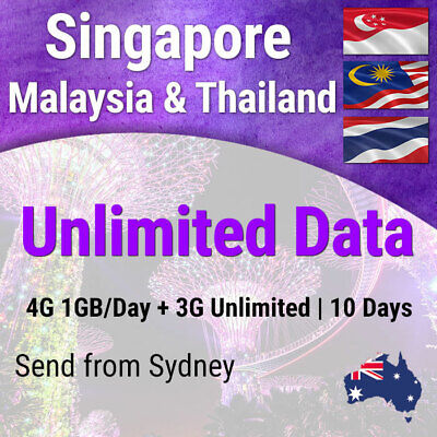 Thailand, Singapore and Malaysia | 10 days | Unlimited Travel Data Sim Card