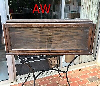 """Antique MACEY Orig Finish Weathered Oak BARRISTER BOOKCASE """"D"""" Section"""