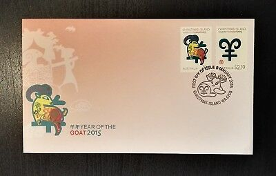 2015 Christmas Island Stamps - Year of the Goat - First Day Cover