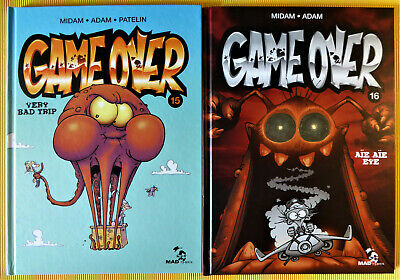 Game Over 15 + Game Over 16 - Midam - E.o. - Etat Neuf
