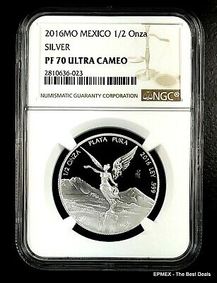 2016 Mexico 1/2 oz Fine Silver Proof Libertad Coin NGC PF 70 UCAM  *Best Price*