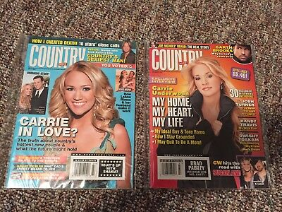 Carrie Underwood Country Weekly Magazine Lot! 7/2/07 & 11/19/07