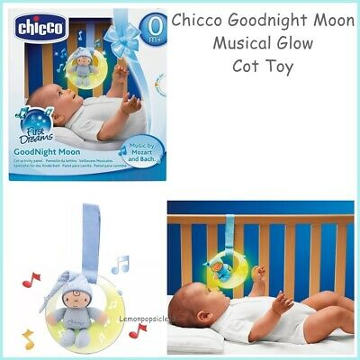 Chicco Goodnight Moon Baby Nursery Musical Night Light Mozart Bach Boy Blue
