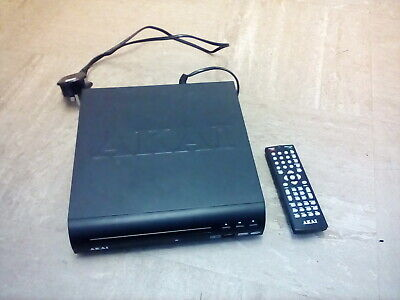 akai compact multi-region DVD player with usb port and remote
